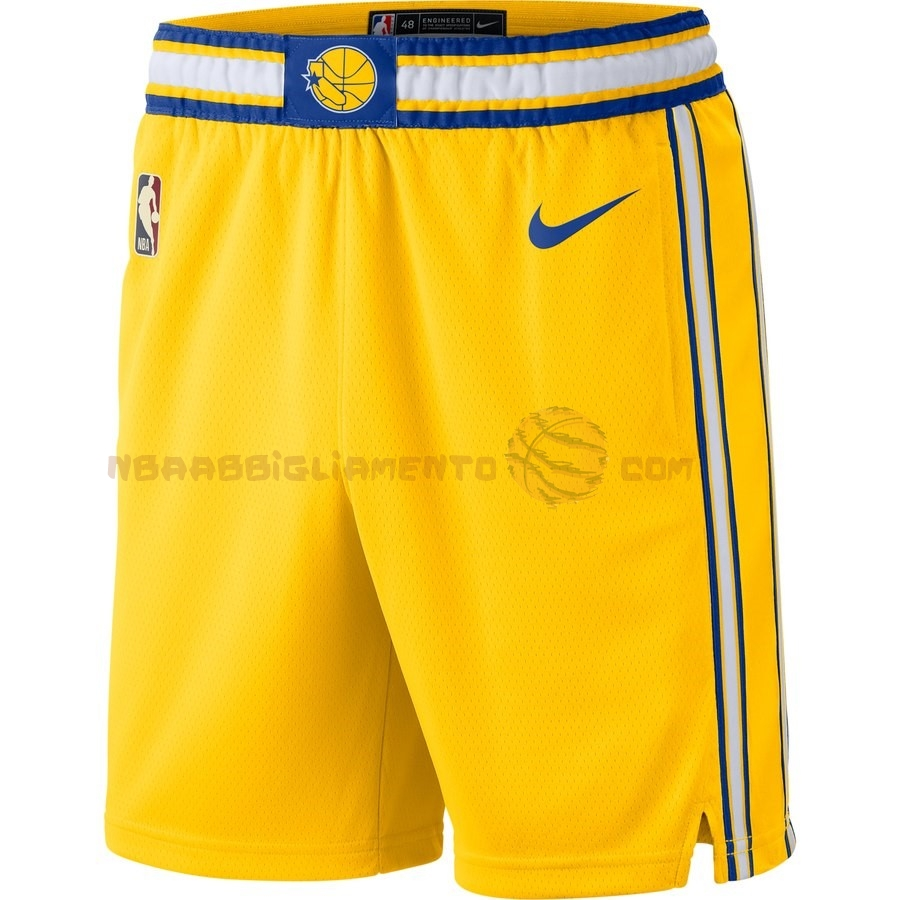 Vendita Nuove Pantaloni Basket Golden State Warriors Arancia Hardwood Classics